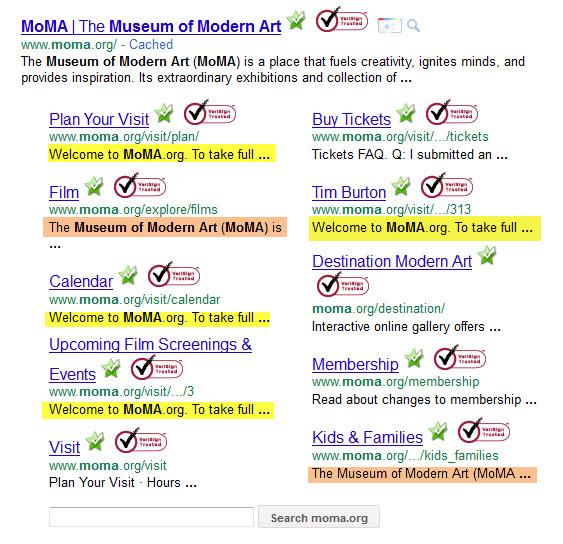 Sitelinks MOMA